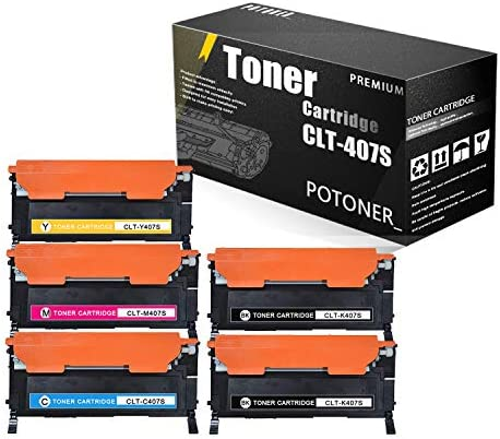 5 Pack 2BK 1C 1Y 1M CLT 407S K407S C407S Y407S M407S Compatible Toner Cartridge Replacement product image
