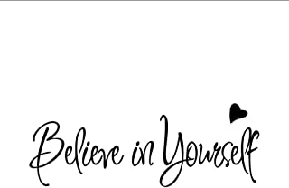 Wall Stickers Letter Believe In Yourself Wall Sticker Decor Living Room Decals Home Decor 56X20Cm