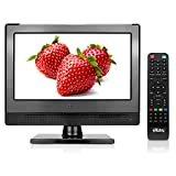 Small Flat Screen TV - Perfect Kitchen TV - 13.3 inch LED TV - Watch HDTV Anywhere - for Kitchen tv, RV tv, Office tv & More– Free HD Local Channels – Small HD TV - USB, HDMI, RCA, RF & More