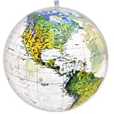 Jet Creations 16 inch Globe of The World, Raised Relief Topographic Map with Political Boundaries, Imprinted Thousands Country and City Names, Up-to-Date Cartography, GTO-16TTR