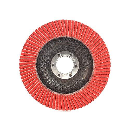 2/5 / 10pz 80 Grit 115 millimetri Flap dischi abrasivi di levigatura Ruote for smerigliatrice angolare lucidatura dei metalli Legno e utensile abrasivo di plastica Gaodpz (Colore : 10pcs)