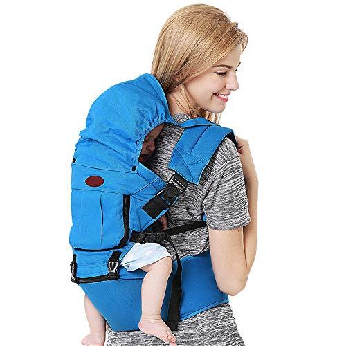 Chloefairy Babytrage Neugeborene ab Geburt 3 in 1 Ergonomische Babybauchtrage Babyrückentrage Leicht Babytrage Hüftsitz Baby Tragesystem Rücken bis 20kg für 0 Monate Baby Carrier Rucksack