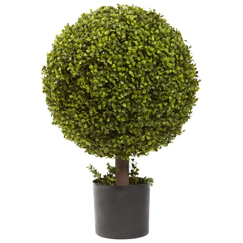 Nearly Natural 5919 27in. Boxwood Ball Topiary,Green,37' x 15' x 15'