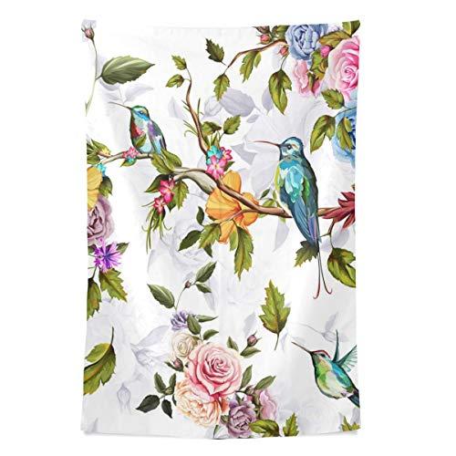 Kolibri Rosen Blumen Wandteppich Wandbehang Cool Post Print Für Wohnheim Home Wohnzimmer Schlafzimmer Tagesdecke Picknick Bettlaken 80 X 60 Zoll