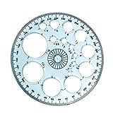 2021 Righello geometrico multifunzionale Righello per disegno veloce Modello di disegno geometrico Strumento di misurazione Righelli per bozze di plastica per forniture per ufficio scolastico Lopade