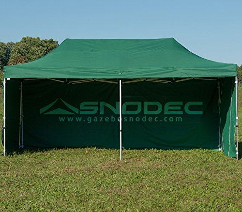 SNODEC Gazebo RAPIDO 3x6 Verde in Acciaio 30mm+ Laterali. Impermeabile 100% GARANTITO