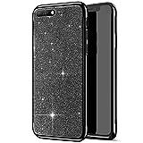 Compatible avec Huawei Y6 2018 Coque,Placage Paillettes Brillante Bling Glitter de Luxe Strass Coque...