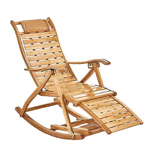 WK Klappstuhl | Liegestuhl Bettgestell Einstellbare Klappbett als Campingausrüstung Twin-Bett-Rahmen Schwerelosigkeit Stuhl Lounge Chair Outdoor Seating-Bambus Schaukelstuhl/Faltbare lili