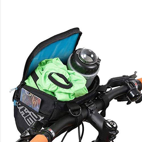 Docooler Fahrrad Lenkertasche multifunktional mit Transparentem PVC-Sichtfenster fürn Handy, 3L, wasserdichtes Material, 20 * 10.5 * 16cm - 6