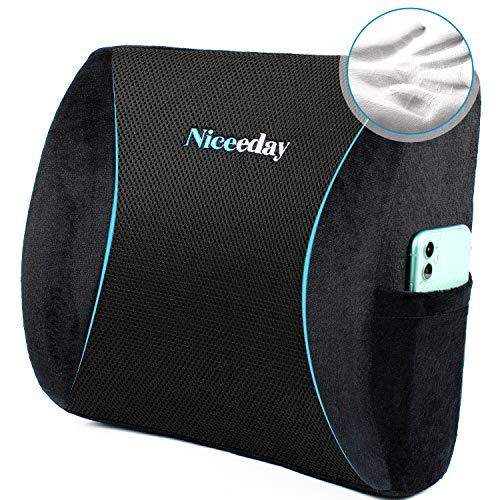Lordosenstützkissen für Bürostuhl, Auto, Lendenkissen, Rückenkissen aus Memory-Schaumstoff mit atmungsaktivem 3D-Mesh-Lendenwirbelstütze orthopädische