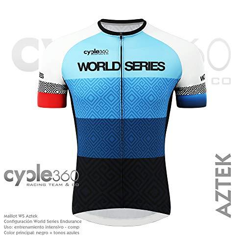 Maillot Ciclismo Manga Corta, Tope de Gama Cycle World Series Endurance. Mod. Aztek Talla S