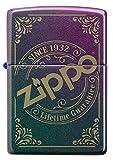 ZIPPO Mechero Recargable con Logotipo de Zippo Grabado con láser, en Caja de Regalo
