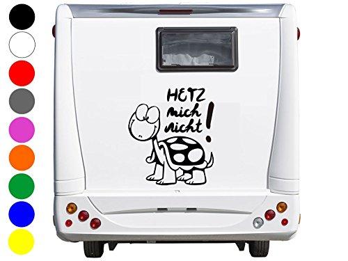 wDesigns Autoaufkleber Hetz Mich Nicht ! Wohnmobil Wohnwagen Camper Caravan Sticker