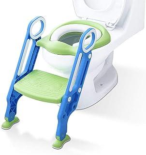 gro/ß 26 X 36 cm Rutschfeste Polypropylen-Polster f/ür Babys und Kleinkinder zusammenklappbar Blue Owl Big Eyes GREENSTORE Wiederverwendbares Toiletten-Toilettensitz Polypropylen