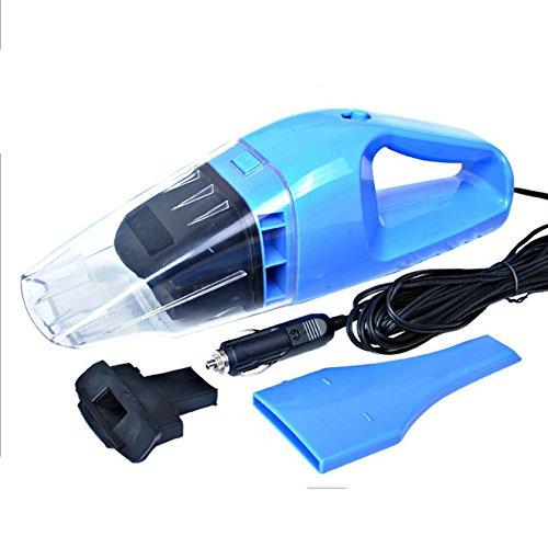 FomCcu Aspirateur de voiture portable à double usage pour voiture 100 W DC 12 V Bleu