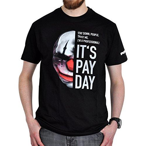 Payday 2 T-Shirt Chains Maske zum Spiel schwarz Baumwolle - M
