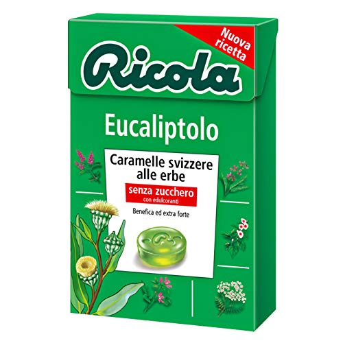 Divita Schweizer Ricola Bonbons eucaliptolo ohne Zucker 50g