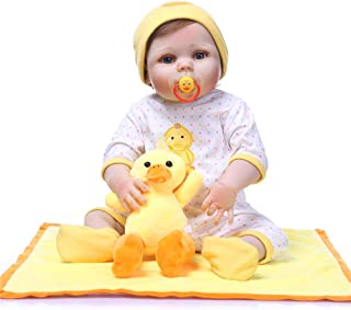"Reborn Baby Doll, 100% Handmade Full Soft Silicone 22"" /55cm Lifelike Newborn Doll for Children Xmas Gift-RB153"