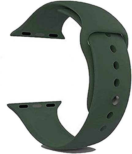 ALOIN iWatch Soft Silicone Strap Compatible with Apple Watch Series 1 2 3 4 5 44mm 42mm Green