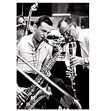 Wandkunst Bild Benny Goodman spielt mit Stan Getz Saxophon