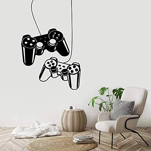 Pegatina de vinilo creativa para pared, tablero de juego, pegatina de pared, planta verde en maceta, Mural de hoja tropical natural