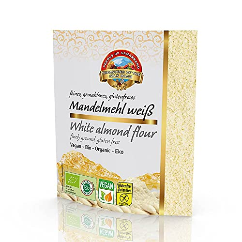 Harina de Almendras blancas BIO 1,5 kg Fairtrade de Comercio Justo, orgánica, almendras ralladas finas, no desgrasado sin gluten 10x150g
