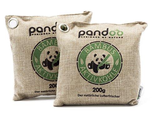 pandoo 2 x 200g natürlicher Bambus Lufterfrischer mit Aktivkohle - Luftreiniger
