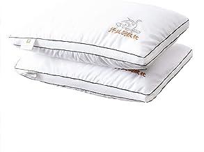 وسائد السرير للنوم عبوة من قطعتين، وسائد ذات جودة فندقية من توب ستار، وسادة بديلة مضادة للحساسية، وسادة ناعمة داعمة من الا...