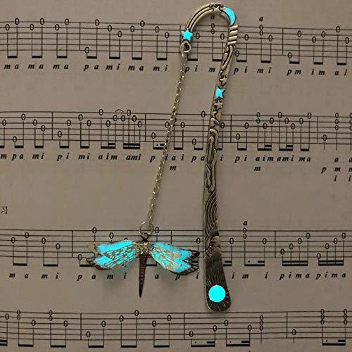 Segnalibro personalizzato libellula luminosa Segnalibro in lega d'argento antico lucido