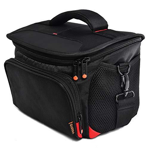 FOSOTO Shockproof DSLR Camera Shoulder Bag Case Compatible for Canon EOS T5i T6 T7i 5D 6D, Nikon D3400 D5600 D7200 D750 D610, Sony A99 Olympus Fujifilm Pentax