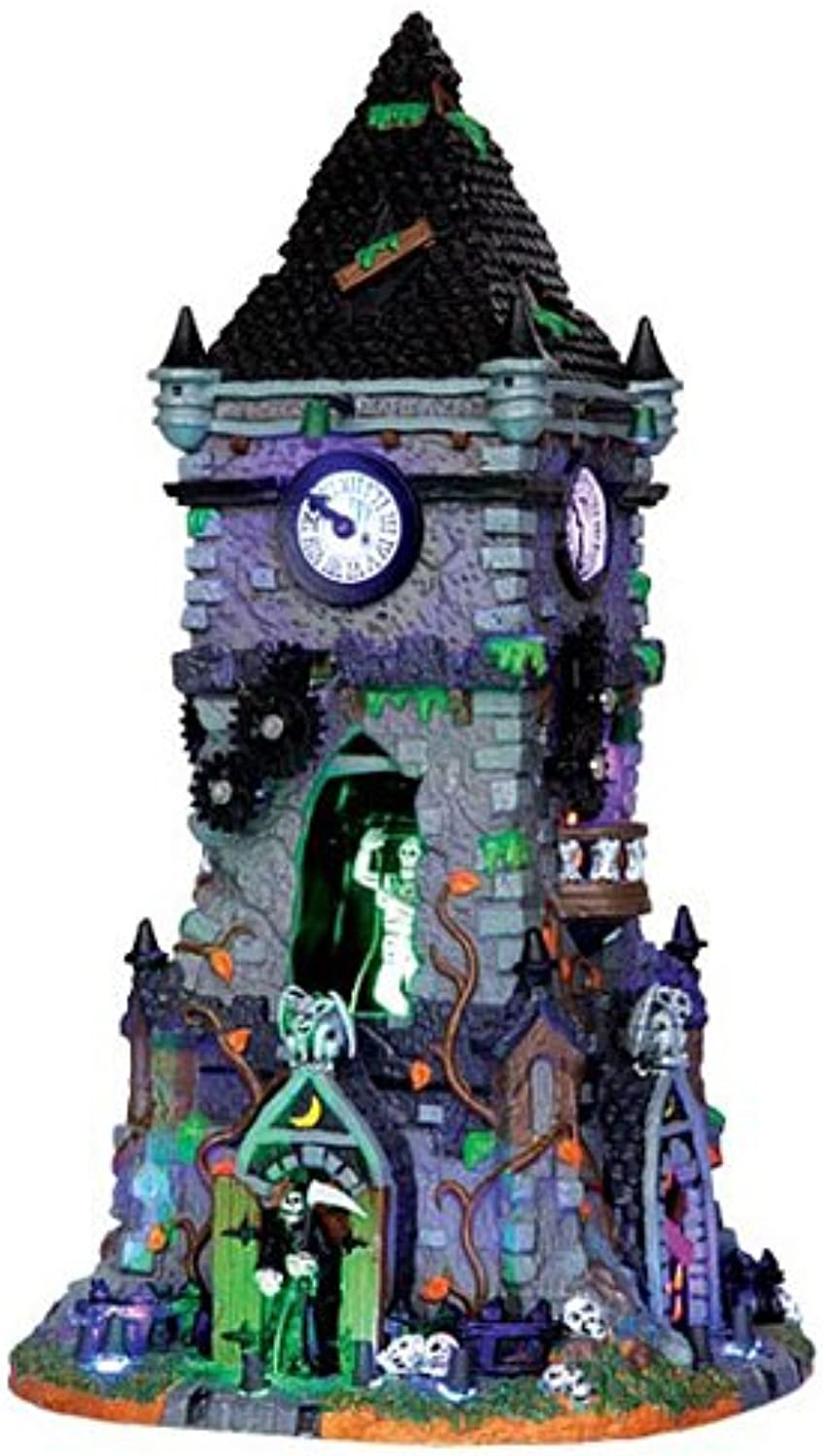 Lemax Spooky Town Haunted Clock Tower with Adaptor   35531
