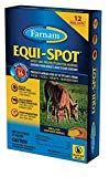 Farnam 12 Week Supply of Equi-Spot Spot-On Fly and Insect Protection for Horses Fly Repellant. Ideal for Pasture Horses