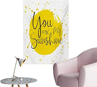 Anzhutwelve Quote Art Stickers Circular Color Splash Outspread Brushstrokes with Inspirational Quote Love ValentinesYellow W24 xL32 Wall Poster