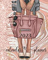 2023 Calendar Planner: Rose Gold Women's Fashion Calendar Organizer With Daily, Weekly and Monthly Pages   8 x 10 Inch Notebook