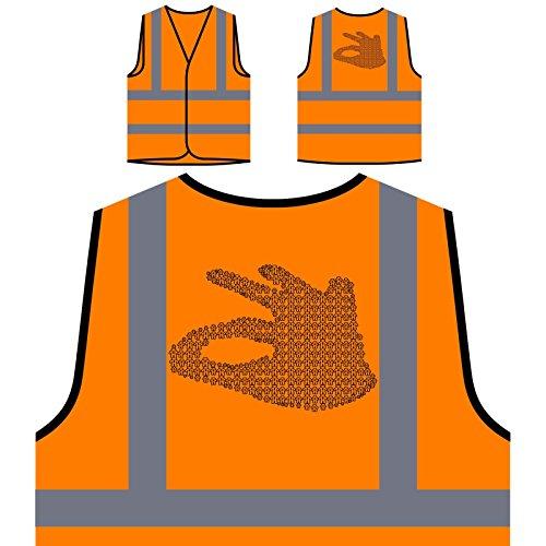 Comunicación empresarial Ok Buen regalo divertido Chaqueta de seguridad naranja personalizado de alta visibilidad d525vo