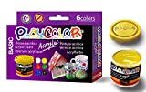 PLAYCOLOR - ACRYLIC BASIC - Lot de 6 pots de peinture acrylique - 40 ml. - 6 couleurs assorties