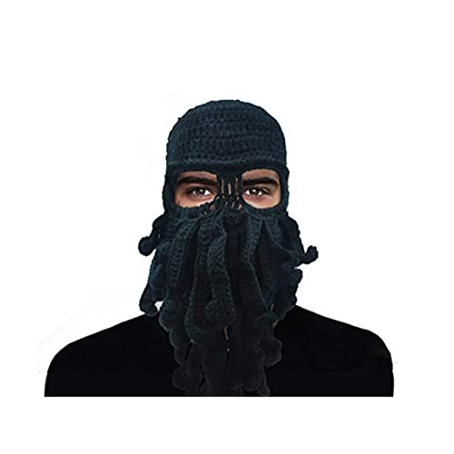 d334902f80a GIANCOMICS Funny Tentacle Octopus Beanie Crochet Knit Beard Hat Wind Ski  Mask
