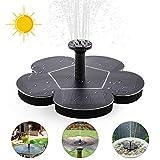 ZOTO Fontaine Solaire Pompe, Fontaine Solaire Flottante avec 4 Buses, Fontaine Flottante pour Les Bains d'oiseaux, Les étangs ou Le Jardin