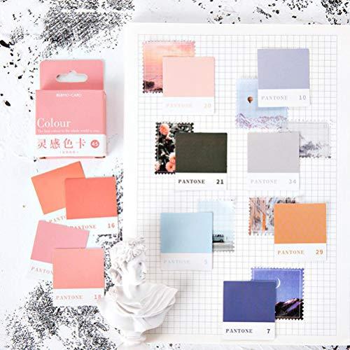 45 pegatinas para tarjetas de color, etiquetas decorativas, palillos de scrapbooking para fiestas de cumpleaños, decoración de bodas, regalos organizando artes y manualidades