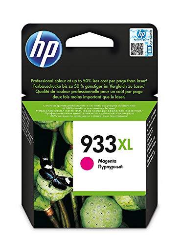 HP 933 XL CN055AE Cartuccia Originale per Stampanti a Getto di Inchiostro, Compatibile con OfficeJet 6100, 7610 e 7612; HP OfficeJet 6600, 6700, 7110 e 7510, Magenta