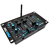 PYLE PRO PMX7BU 3-Channel Bluetooth(R) DJ Mixer