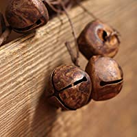 Factory Direct Craft Rusted Metal Jingle Bell Garland for Holiday Home Décor