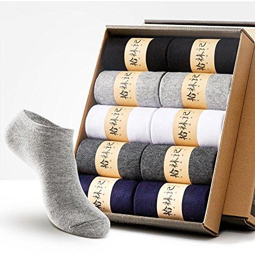 Lmzyan Chaussettes de déodorant en Coton pour Hommes 10 Paires