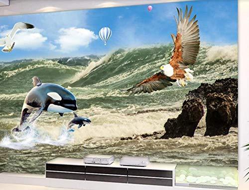 Fototapete 3D Effekt Blauer Himmel Und Weiße Wolken Tapeten Foto Wandbilder Seeadler Wandtapete Wohnzimmer Schlafzimmer Tapeten Modern Vlies Bild Tapete Fototapete 300cmx220cm