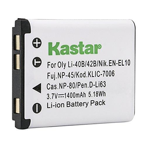 Kastar Battery for Kodak KLIC-7006 K7006 & EasyShare M22, M23, M200,...