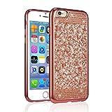 Zcdaye Custodia scintillante con glitter per iPhone, silicone PLASTICA, Rose Gold, iPhone 5/5S/SE