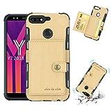 Étui de téléphone Portable Cas de téléphone Huawei Y7 (2018) Texture brossé résistant aux...