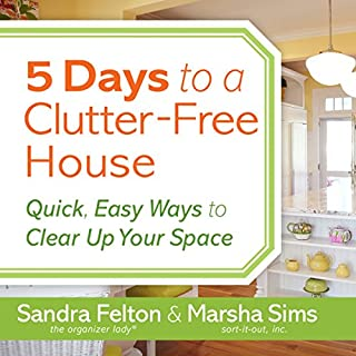 5 Days to a Clutter-Free House audiobook cover art