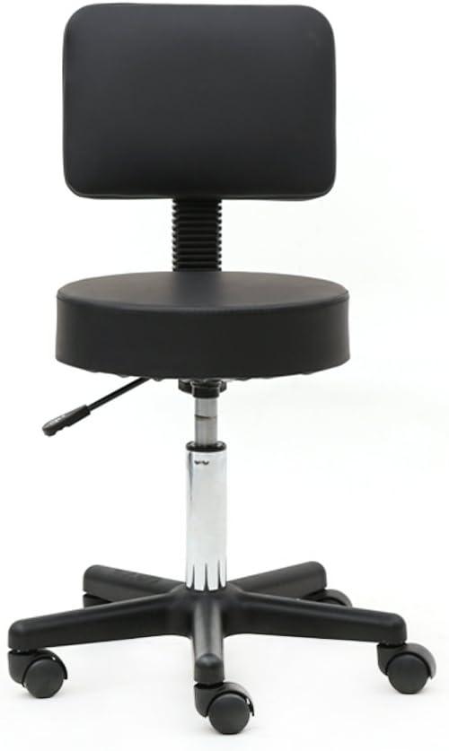 Sale Teeker Swivel Round Rolling Stool PU Foo with Max 90% OFF Leather Adjustable