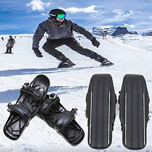 Mini-Ski-Skates Schneeschuhe, Kurze Skiboard Schneeklingen, Winter Outdoor Reisen Im Winter Ski Schlitten, Kombinieren Von Skates Mit Ski, Skischuhe Cover black-37-47EU